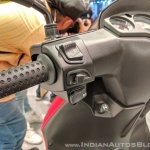 Aprilia SR 125 left switchgear at 2018 Auto Expo
