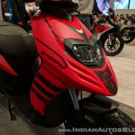 Aprilia Storm Red headlight at 2018 Auto Expo