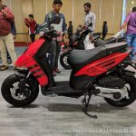 Aprilia Storm Red left side at 2018 Auto Expo