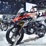 BMW G 310 GS front left quarter at 2018 Auto Expo