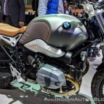 BMW R nineT Scrambler engine right side at 2018 Auto Expo