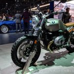 BMW R nineT Scrambler front left quarter at 2018 Auto Expo