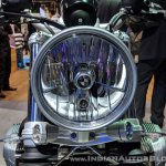BMW R nineT Scrambler headlight at 2018 Auto Expo