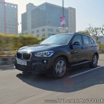 BMW X1 M Sport review front angle motion shot