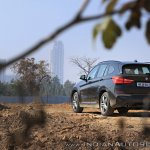 BMW X1 M Sport review rear three quarters view