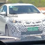 Brazilian-spec Toyota Vios (Toyota Yaris Sedan) front three quarters spy shot