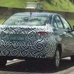 Brazilian-spec Toyota Vios (Toyota Yaris Sedan) rear three quarters spy shot