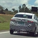 Brazilian-spec Toyota Vios (Toyota Yaris Sedan) spy shot