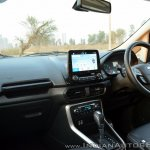 Ford EcoSport Petrol AT review dashboard angle
