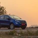 Ford EcoSport Petrol AT review front angle far