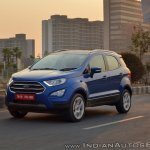 Ford EcoSport Petrol AT review front angle motion shot