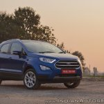 Ford EcoSport Petrol AT review front angle view