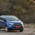 Ford EcoSport Petrol AT review front three quarter