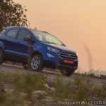 Ford EcoSport Petrol AT review front three quarters angle