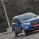 Ford EcoSport Petrol AT review front three quarters titl