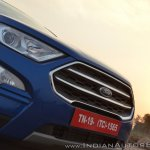 Ford EcoSport Petrol AT review nose