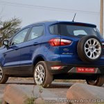 Ford EcoSport Petrol AT review rear angle