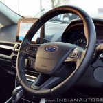 Ford EcoSport Petrol AT review steering wheel