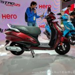 Hero Duet 125 right side at 2018 Auto Expo