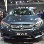 Honda Civic front at Auto Expo 2018