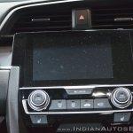 Honda Civic infotainment system at Auto Expo 2018