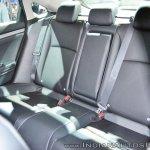Honda Civic rear seats at Auto Expo 2018