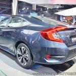 Honda Civic rear three quarters at Auto Expo 2018