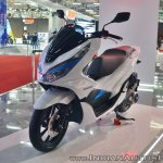Honda PCX Electric Concept front left quarter at 2018 Auto Expo