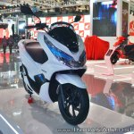 Honda PCX Electric Concept front right quarter at 2018 Auto Expo