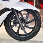 Honda PCX Electric Concept front suspension at 2018 Auto Expo