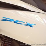 Honda PCX Electric Concept logo at 2018 Auto Expo
