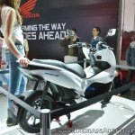 Honda PCX Electric Concept rear right quarter at 2018 Auto Expo