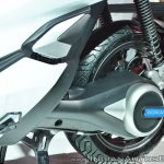 Honda PCX Electric Concept rear suspension at 2018 Auto Expo