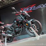 Honda X-Blade Black front right quarter at 2018 Auto Expo
