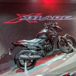 Honda X-Blade Black right side at 2018 Auto Expo