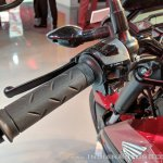 Honda X-Blade Red switchgear at 2018 Auto Expo