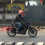 Husqvarna Svartpilen 401 spied in India right side