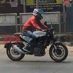 Husqvarna Vitpilen 401 Spied in India right side