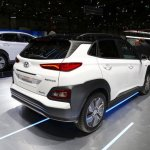 Hyundai Kona Electric rear three quarters at 2018 Geneva Motor Show