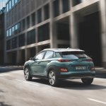 Hyundai Kona Electric rear three quarters