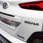 Hyundai Kona Electric tailgate at 2018 Geneva Motor Show