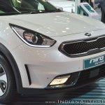 Kia Niro plug-in hybrid front fascia at Auto Expo 2018