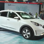 Kia Niro plug-in hybrid front three quarters at Auto Expo 2018
