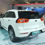 Kia Niro plug-in hybrid rear three quarters at Auto Expo 2018