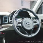 Kia Niro plug-in hybrid steering wheel at Auto Expo 2018