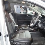Kia Rio front seats at Auto Expo 2018