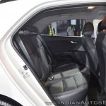 Kia Rio rear seats at Auto Expo 2018