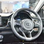 Kia Rio steering wheel at Auto Expo 2018