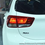 Kia Rio tail lamp at Auto Expo 2018