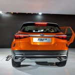 Kia SP Concept rear at Auto Expo 2018